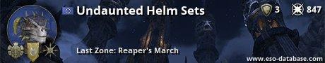 Signatur von Undaunted Helm Sets