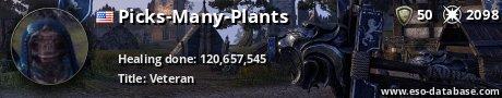 Signatur von Picks-Many-Plants