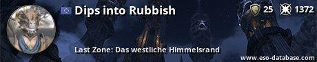 Signatur von Dips into Rubbish