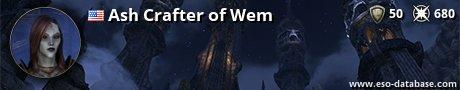 Signatur von Ash Crafter of Wem