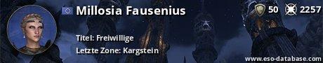 Signatur von Millosia Fausenius