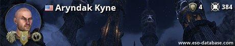 Signatur von Aryndak Kyne