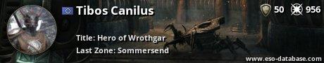 Signatur von Tibos Canilus