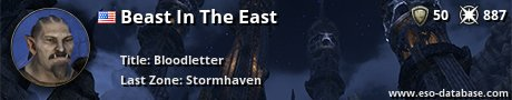 Signatur von Beast In The East
