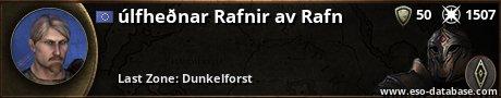 Signatur von úlfheðnar Rafnir av Rafn