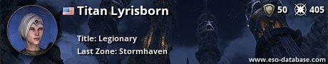 Signatur von Titan Lyrisborn