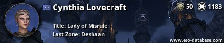 Signatur von Cynthia Lovecraft