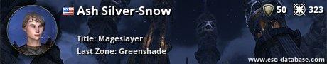 Signatur von Ash Silver-Snow