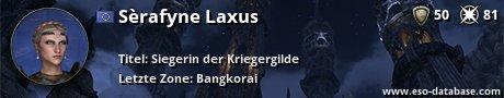 Signatur von Sèrafyne Laxus