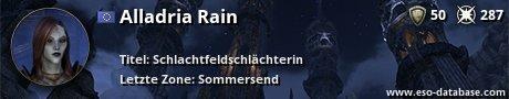Signatur von Alladria Rain