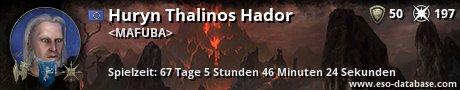 Signatur von Huryn Thalinos Hador