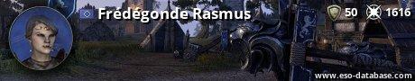 Signatur von Frédégonde Rasmus
