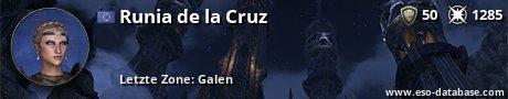 Signatur von Runia de la Cruz