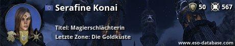 Signatur von Serafine Konai