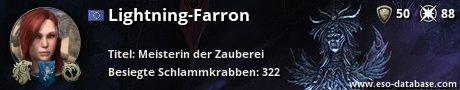 Signatur von Lightning-Farron