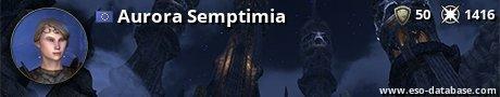 Signatur von Aurora Semptimia